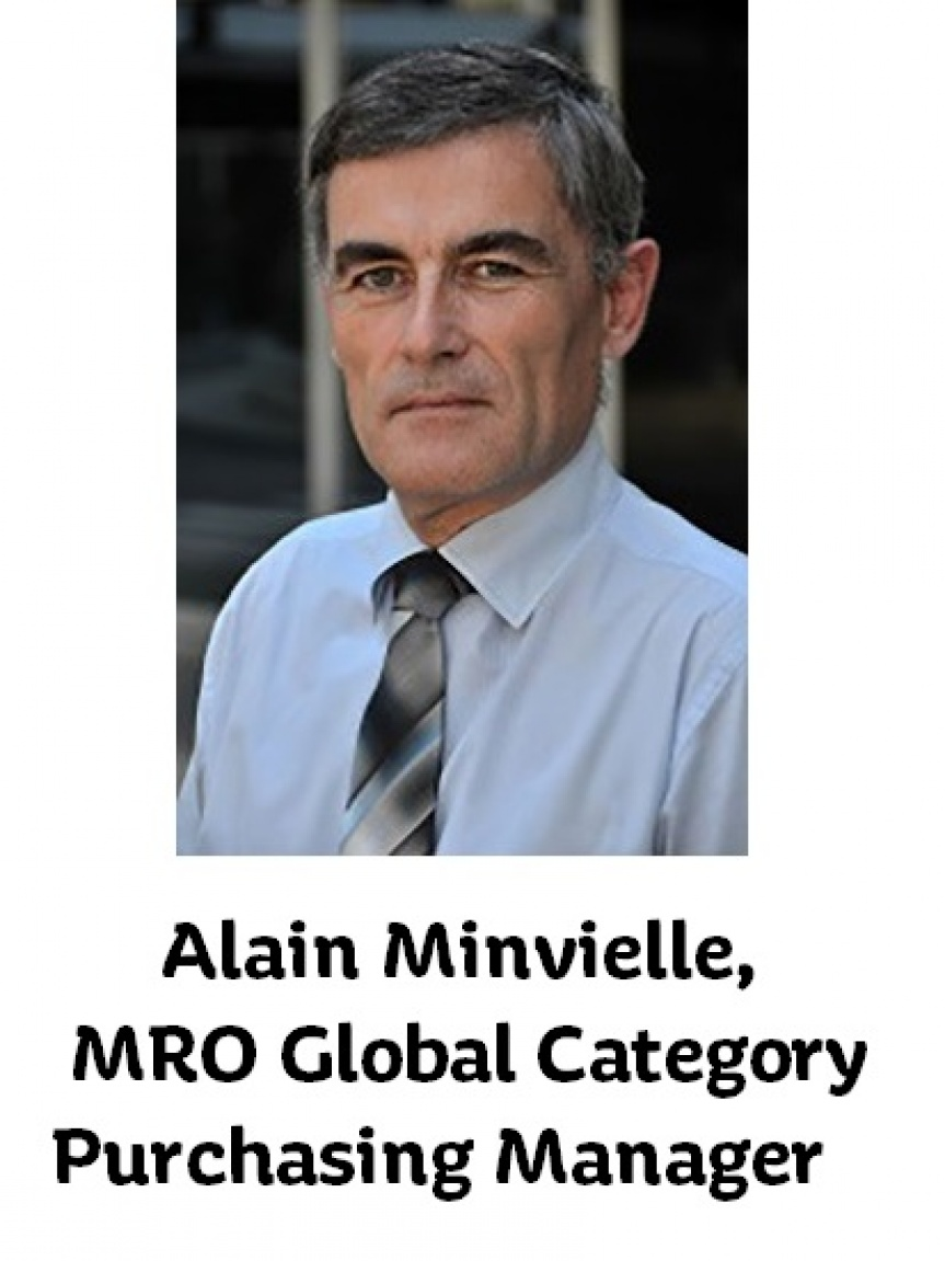 Photographie de Monsieur Alain Minvielle, MRO Global Category Purchasing Manager.