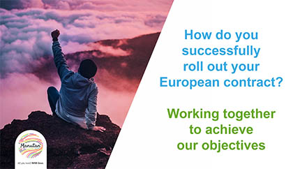 How do you successfully roll out your European contract?