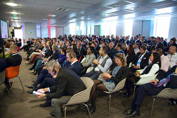 Audience attentive to a speech at Manutan Pushasing Day 2019